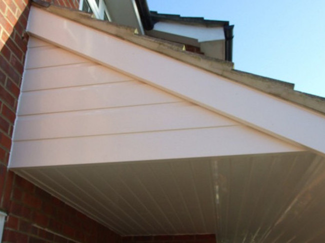 uPVC soffits and fascias.